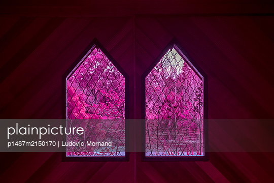 Twin symetrical windows - p1487m2150170 by Ludovic Mornand
