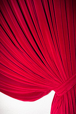 Red curtain - p1177m1221049 by Philip Frowein