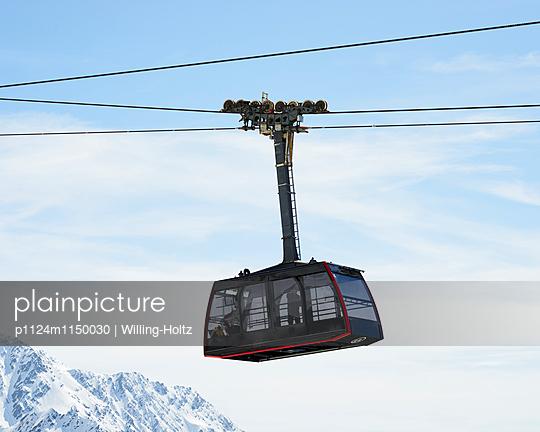 Seilbahn am Mont Blanc - p1124m1150030 von Willing-Holtz