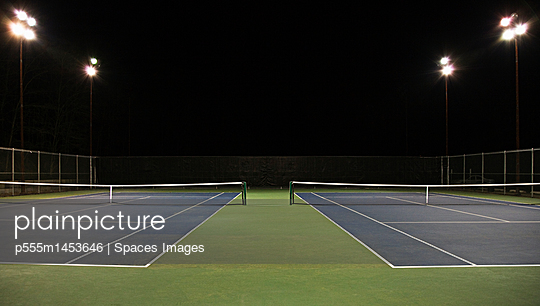 Tennis Court at Night
