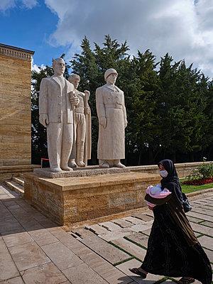 Turkey, Ankara, Anitkabir, Mausoleum of Mustafa Kemal Atatürk - p390m2254446 by Frank Herfort