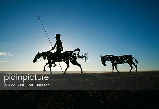 A sculpture Don Quixote Cuba.