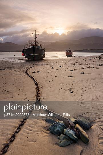 Old fishing boat, Barmouth Harbour, Gwynedd, North Wales, Wales, United Kingdom, Europe - p871m2022878 by Matthew Williams-Ellis