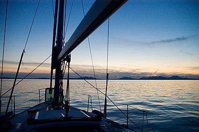Abendstimmung auf dem Boot - p0810347 von Alexander Keller