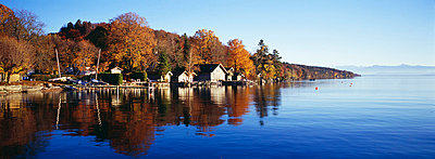 Boat houses in Autumn - p6090222 by WRIGHT