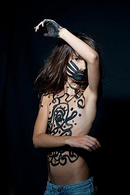 Bemalte Haut - p1116m1217103 von Ilka Kramer
