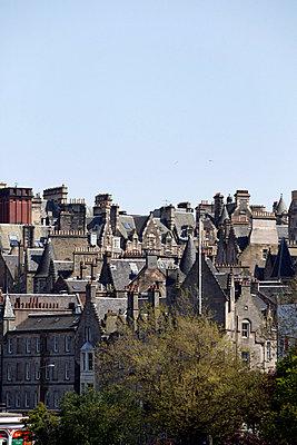 Edinburgh's rooftops - p3883097 by L.B. Jeffries