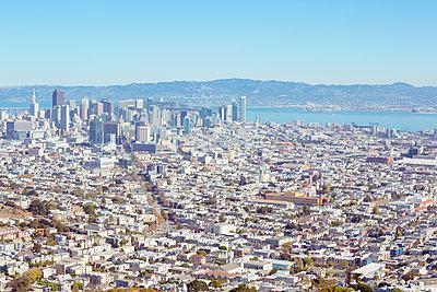 San Francisco aus der Luft - p432m1127707 von mia takahara