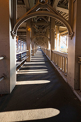A Covered Walkway; Newcastle Northumberland England - p442m699817f by John Short