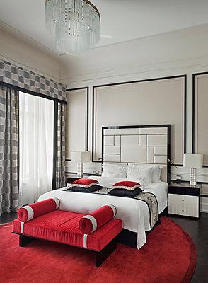 Russland, St. Petersburg, Belmond Grand Hotel Europe, Luxuriöses 5 Sterne Hotelzimmer - p390m2191558 von Frank Herfort