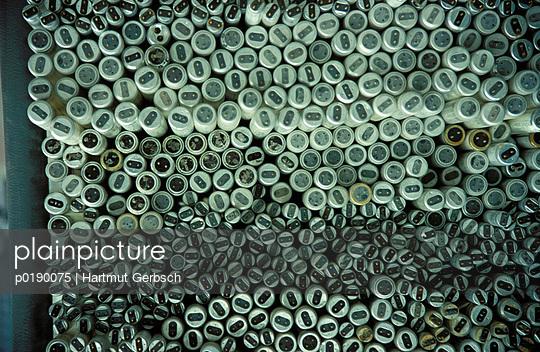 Neonleuchten von oben - p0190075 von Hartmut Gerbsch
