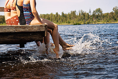 Cooling off at the lake - p294m2132894 by Paolo