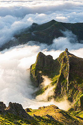 Mountains above clouds - p312m1472749 by Mikael Svensson