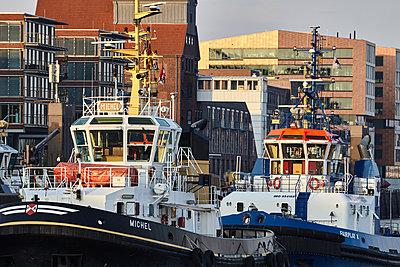 Lotsenboote, Hafen Hamburg - p1686m2288532 von Marius Gebhardt