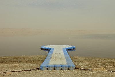 Pier on lake, Egypt - p1010m2277856 by timokerber