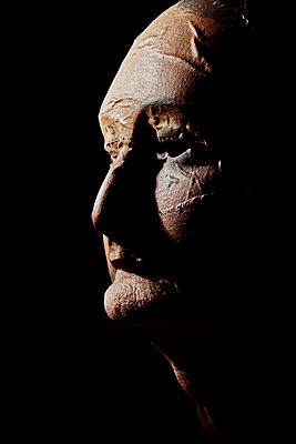 old man wearing a mask - p1540m2195875 by Marie Tercafs