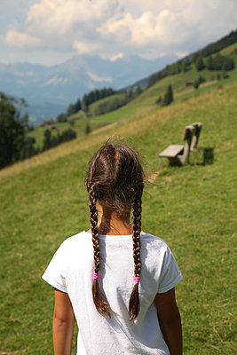 Girl on alpine meadow - p375m1564615 by whatapicture