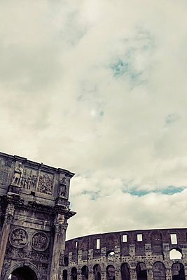 Colosseum and Arch of Constantine - p081m881240 by Alexander Keller
