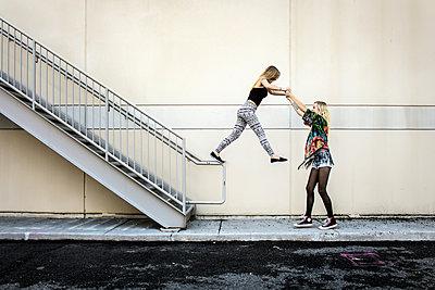 Best Girl Friends Trust Each other  - p1019m1122353 by Stephen Carroll