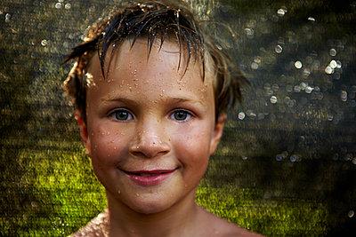 Boy Face - p1260m1064750 by Ted Catanzaro
