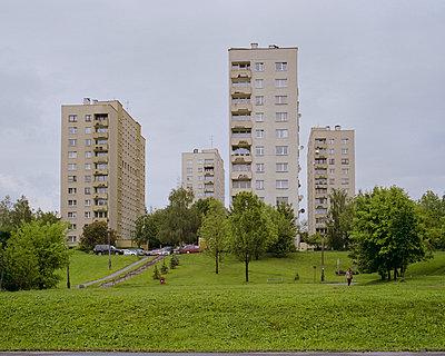 Wohnblocks, Krakau - p1214m1028165 von Janusz Beck