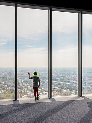 View over Moscow from high rise - p390m2013425 by Frank Herfort