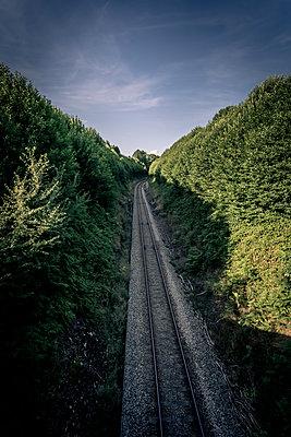 Railway tracks - p1402m2125593 by Jerome Paressant