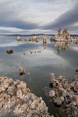 Tufa formations at dawn, Mono Lake, California, United States of America, North America - p871m1073395f by James Hager