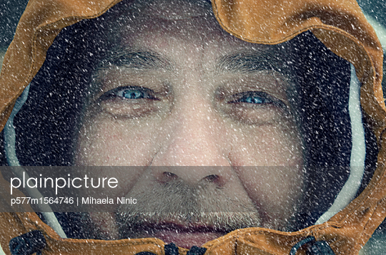 Close-up of a man`s face  - p577m1564746 by Mihaela Ninic