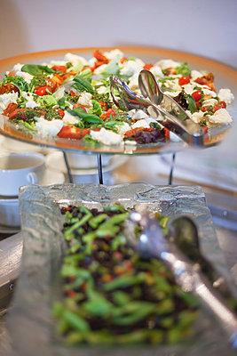 Salad on buffet - p623m1495183 by Gabriel Sanchez