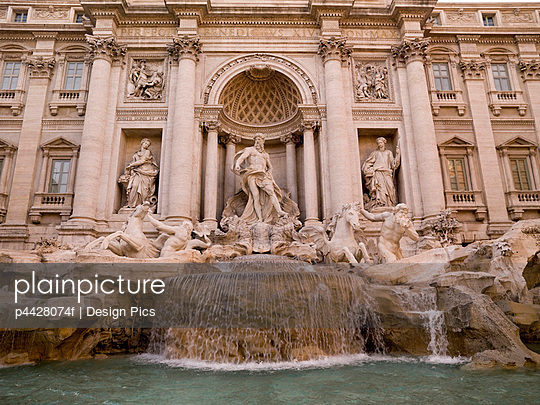 Trevi Fountain, Rome, Italy; Baroque fountain completed in 1762