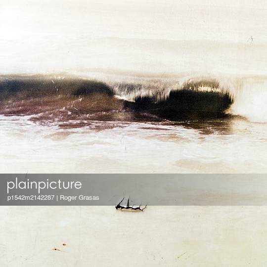 Surf on the beach - p1542m2142287 by Roger Grasas