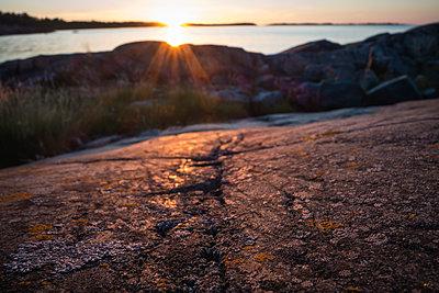 Sunset in Stockholm archipelago - p1418m1571866 by Jan Håkan Dahlström