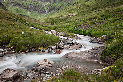 Flowing mountain stream in the Hohe Tauern - p1383m1480795 by Wolfgang Steiner