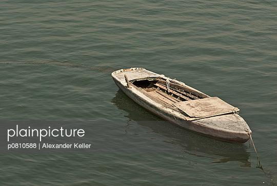 Altes Boot in Venedig - p0810588 von Alexander Keller