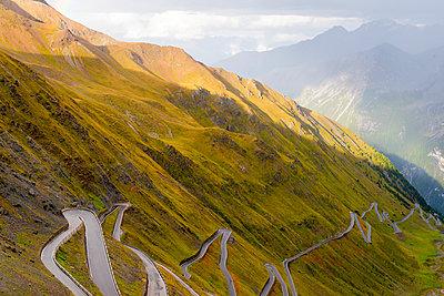 Italy, South Tyrol, Ortler Alps, Passo dello Stelvio, Stelvio Pass - p300m979132f by Karl Thomas