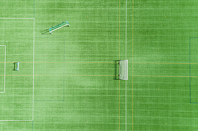Aerial view of football pitch - p312m2139337 by Mikael Svensson