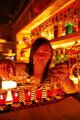 Bar in night club - p390m892005 by Frank Herfort