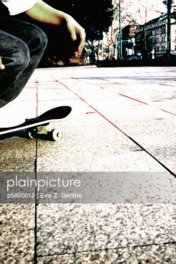 Skate boarder - p5800012 by Eva Z. Genthe
