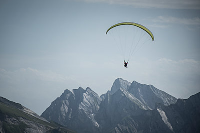 France, Aravis, Paragliding in the Alps - p1007m2216497 by Tilby Vattard