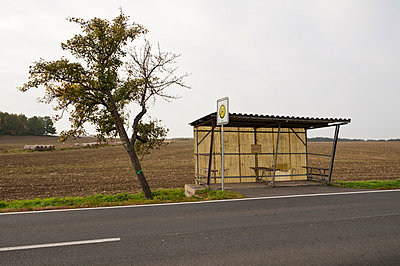 Bus station in the country - p1710307 by Rolau