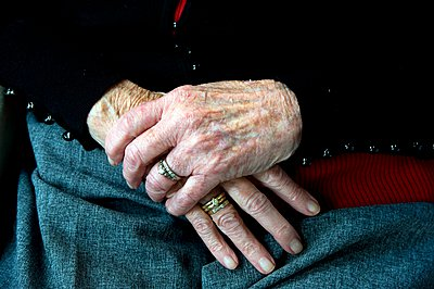 Hands of old woman - p896m959407 by Roel Burgler