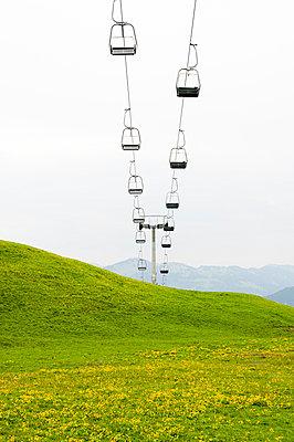 Ski lift in summer - p177m959726 by Kirsten Nijhof