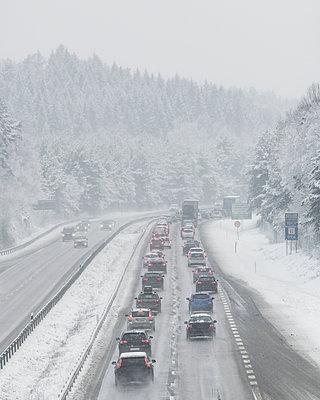 Winter motorway - p312m2050070 by Mikael Svensson