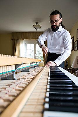 Piano tuner tuning grand piano - p300m1205147 by Andrés Benitez