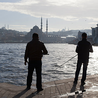 Turkish Fishermen - p1138m971486 by Stéphanie Foäche