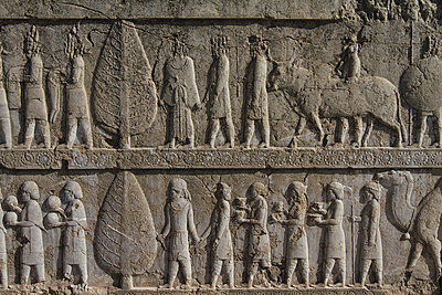 Bas-relief of the representation of all nations of the Persian empire - p798m1025694 by Florian Löbermann