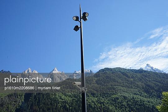 A security camera in Chamonix - p1610m2208686 by myriam tirler
