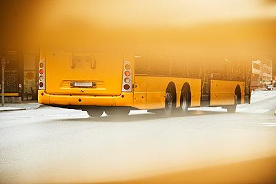 Bus on road - p312m2280679 by Johan Alp