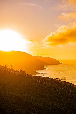 Sonnenuntergang am Pazifik in Neuseeland - p1455m2203672 von Ingmar Wein